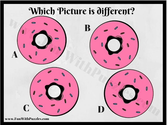 Picture Brain Teaser Image to find Odd One Out