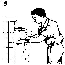 cara-berwudhu-mencuci-tangan