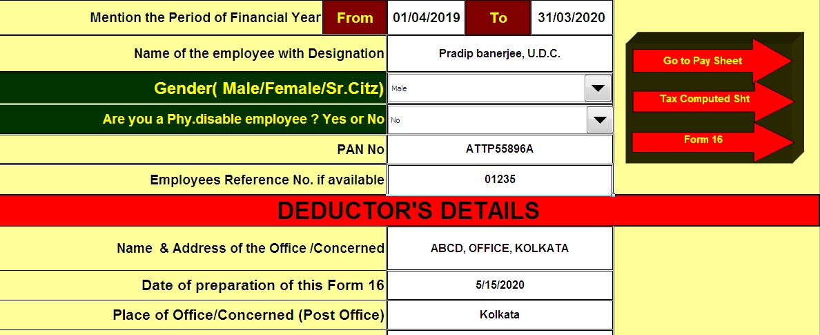 Download Automated All In One Tds On Salary Non Govt Private