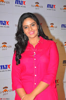 Sree Mukhi in Pink Kurti looks beautiful at Meet and Greet Session at Max Store (8).JPG