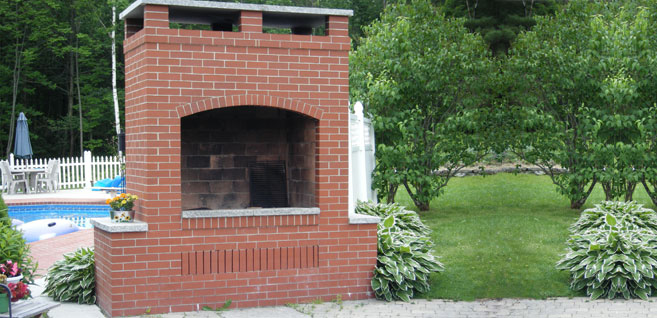 brick bbq plans with chimney brick driveway image brick barbecue pictures 384