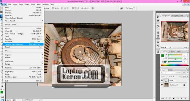 Cara Kompres Gambar Untuk Blog step 3