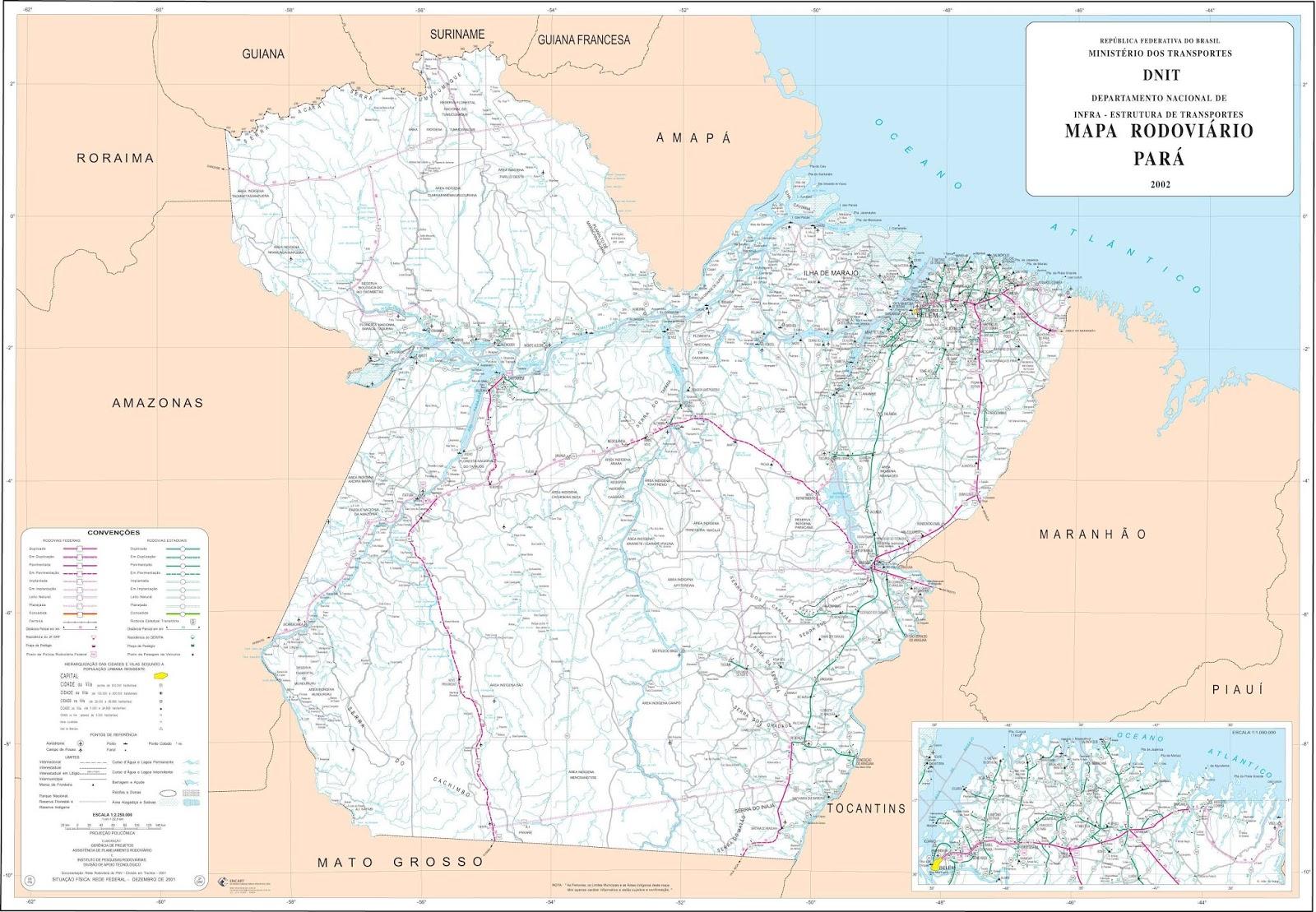 Mapas do Estado do Pará