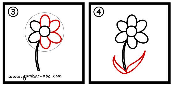 Mewarnai Gambar Bunga Violet Contoh Anak Paud Viewinviteco