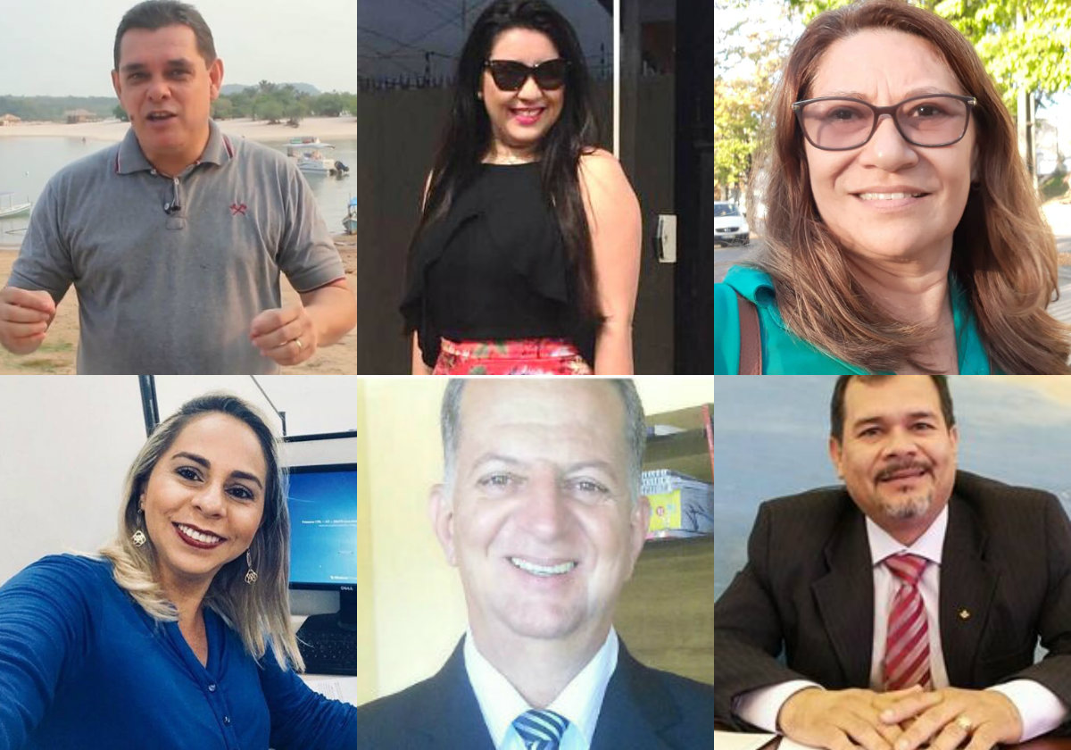 Holofotes em 6 VIPs. Núbia, Raimunda Monteiro, Dayan, Emanuel Júlio, Ibanez e Aline Hoyos