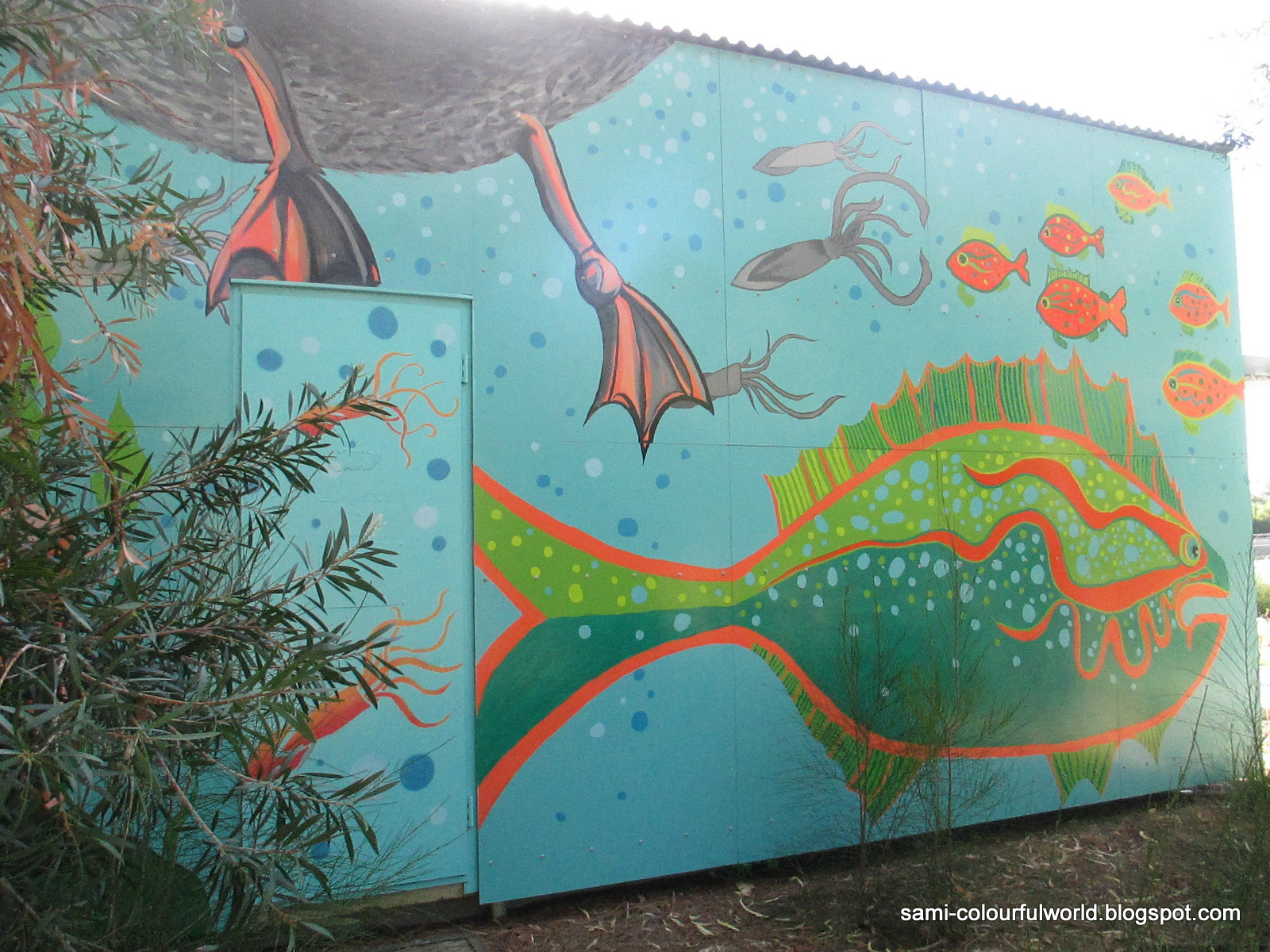 Kunst Gymnasium Salzgitter Bad Projekt Wandmalerei Zoo