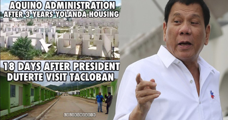 Netizens praise Duterte after fast completion of housing project for Yolanda survivors