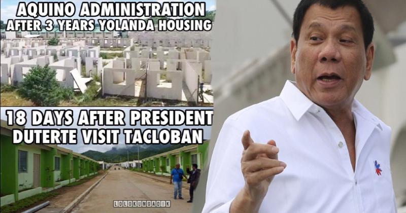 Netizens praise Duterte after fast completion of housing project for Yolanda survivors
