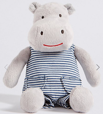 marks and spencer hippo in dungarees