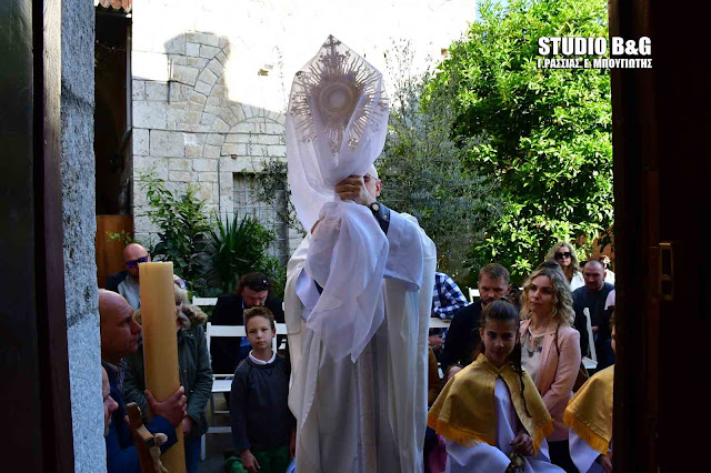 Πάσχα των Καθολικών στο Ναύπλιο (βίντεο)