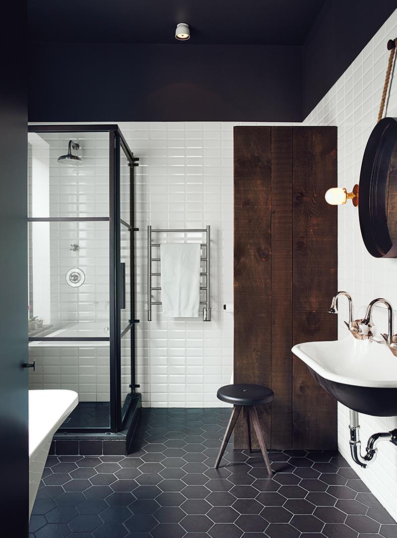 Small World Of Design Inspiracje Biało Czarna łazienka
