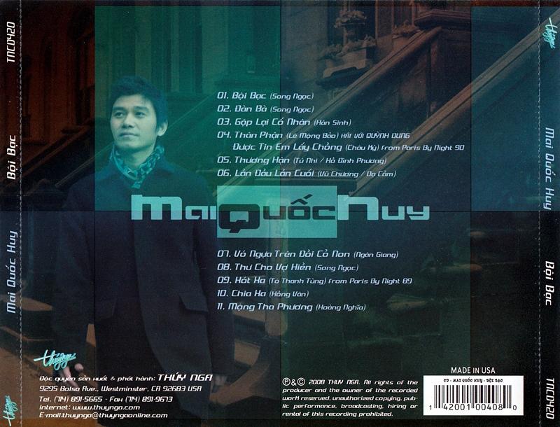 Thúy Nga CD420 - Mai Quốc Huy - Bội Bạc (NRG) + bìa scan mới