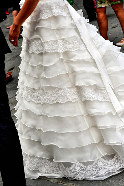 Wedding Dress Detail in Siena, Italy | Taste As You Go