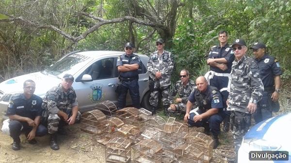 Guarda Ambiental de São Pedro da Aldeia destruiu gaiolas e resgatou espécies silvestres