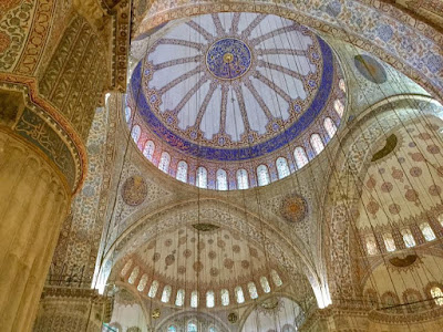 Inside the Blue Mosque - Photo by Cat Bauer