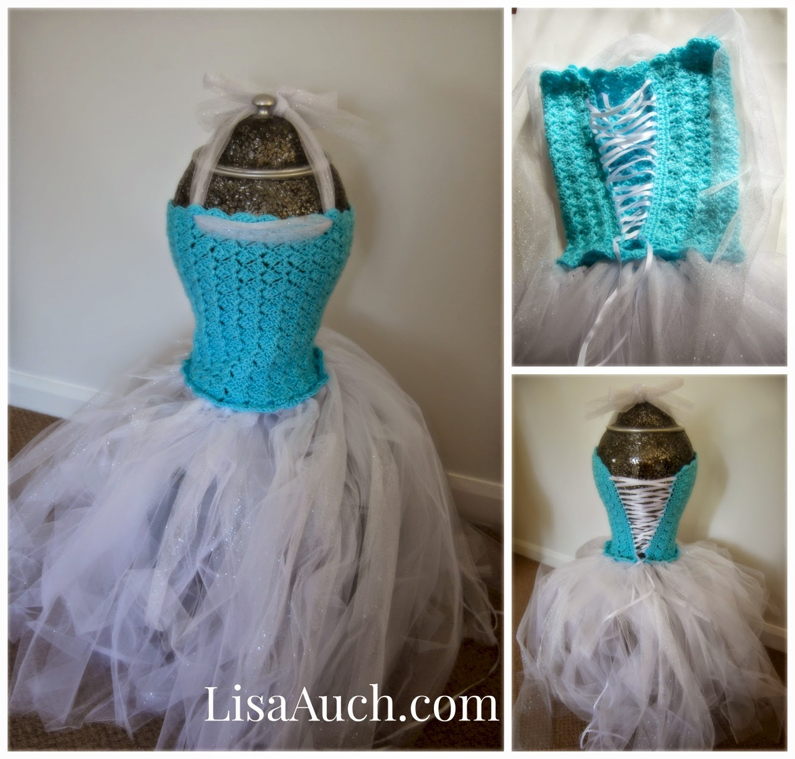 make your own elsa frozen dress - crochet tutu dress for older girl-tutu dress