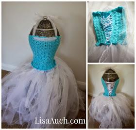 make your own elsa frozen dress - crochet tutu dress for older girl-tutu dress