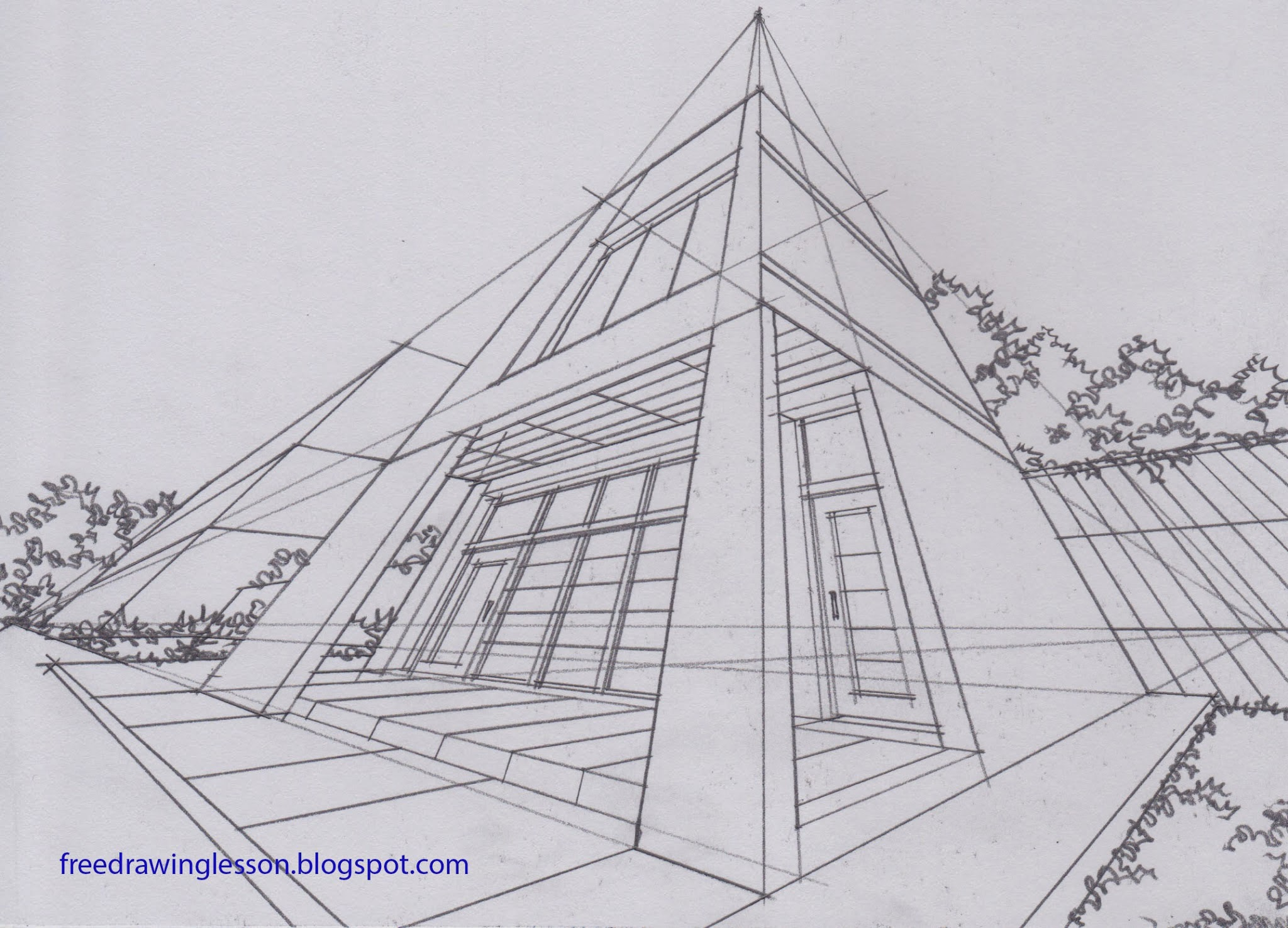 Learn To Draw Draw Buildings In Three Point Perspective