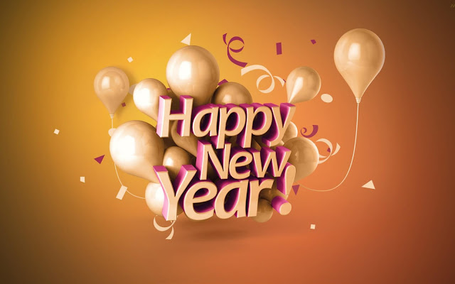 Happy New Year Balloon HD Wallpaper