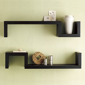 Wood shelf | Wood shelf brackets | Floating wood shelf