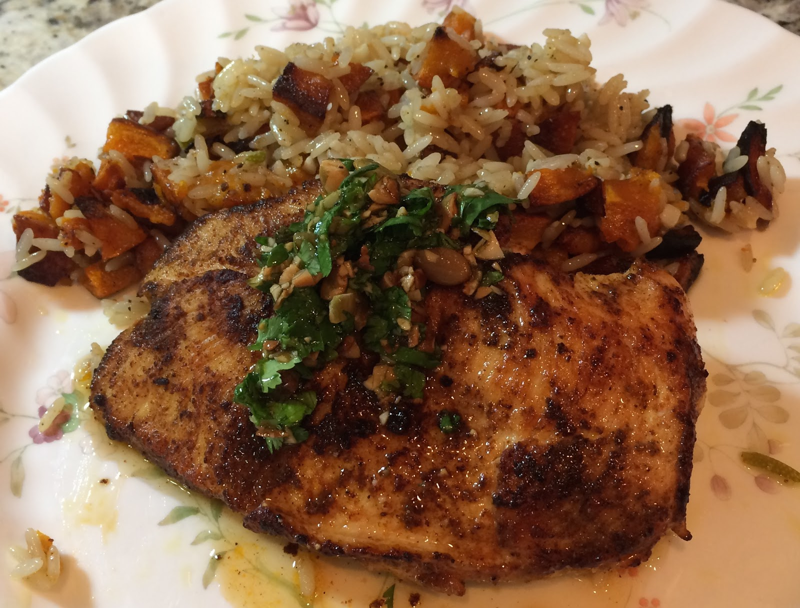 Blue apron garlic rice