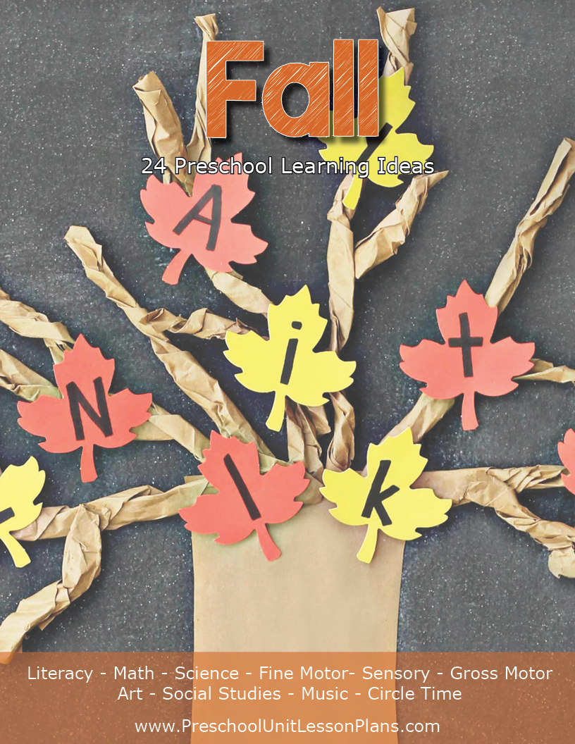 fall preschool unit lesson plans