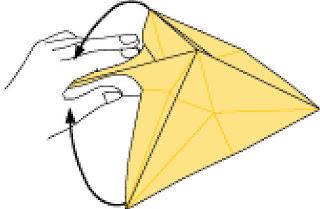 Bước 12: Kéo 2 đầu 2 bên sao cho chạm vào nhau