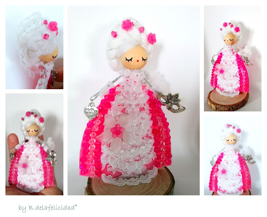 Art and jewelry handmade doll