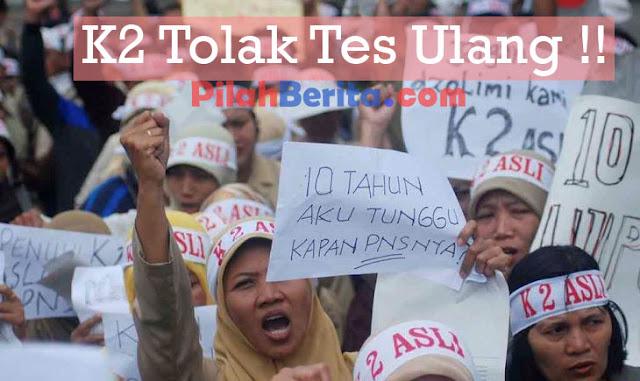 HONORER K2 TOLAK TES ULANG UNTUK JADI PNS !!