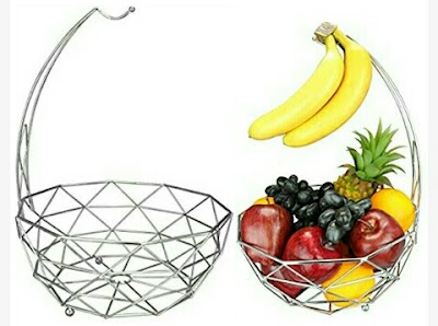 Home Fruit-Snack Basket with Removable Banana Hanger