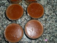 Flan de chocolate negro