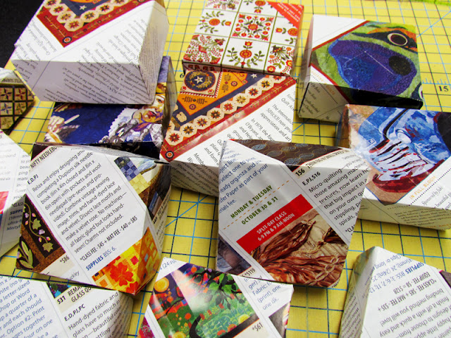 Origami-  folded paper gift boxes