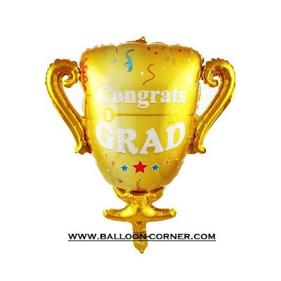 Balon Foil Piala CONGRATS GRAD