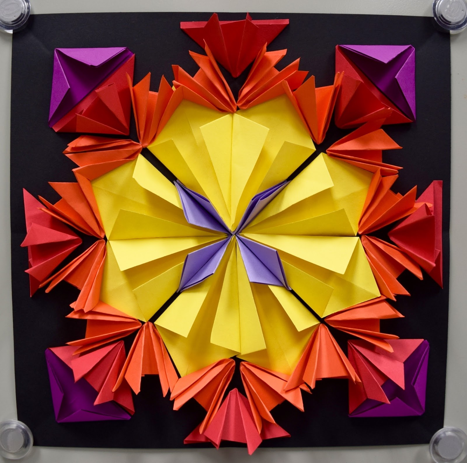 Radial Paper Relief Sculptures (5th): Part 500000 - Art with Mrs. Nguyen