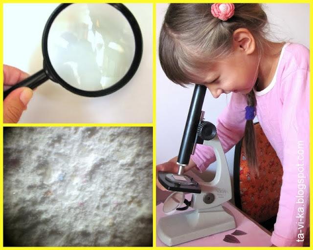Бумага под микроскопом