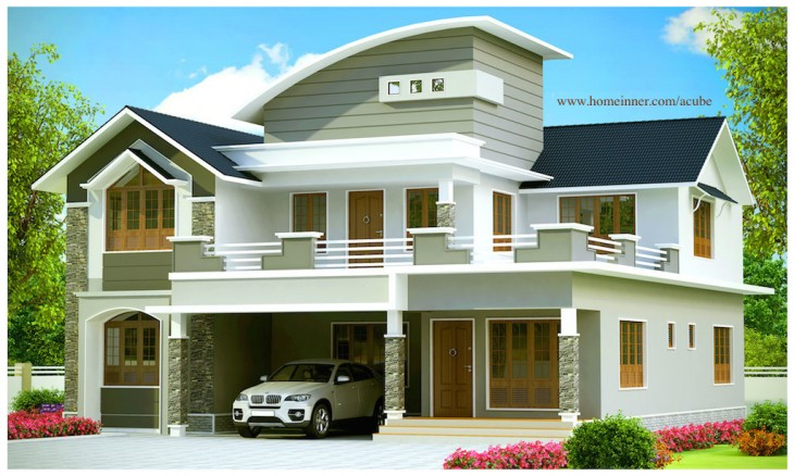 2951 sqft beautiful contemporary kerala house design Contemporary house style