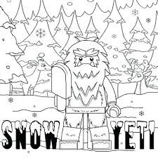 Best Images And Photo Yeti Coloring Pages