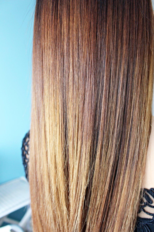 efekt po keratynowym prostowaniu włosów Alfaparf