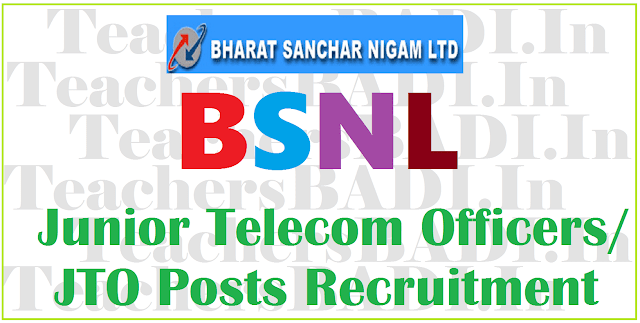 BSNL,JTOs,Recruitment Notification