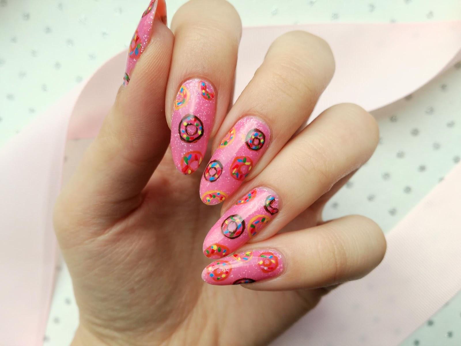 słodkie paznokcie w donaty