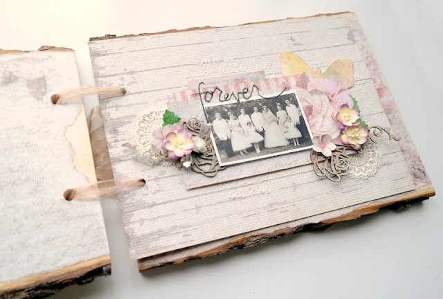Forever Vintage Wedding Scrapbook Layout by Dana Tatar