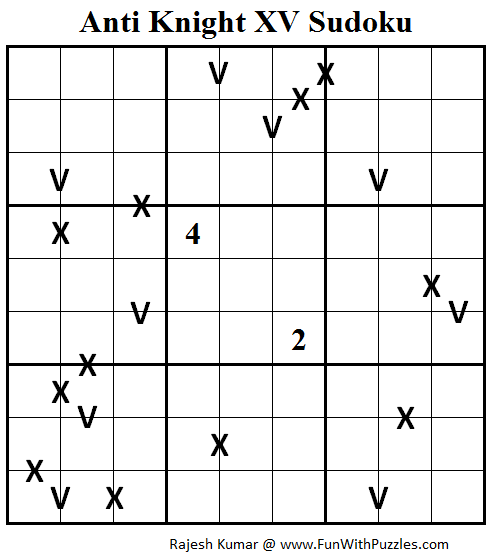 Anti Knight XV Sudoku (Daily Sudoku League #106)
