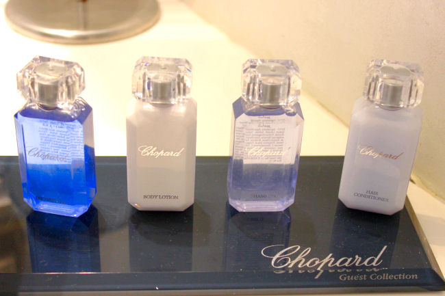 Chopard guest collection beauty products travel kit