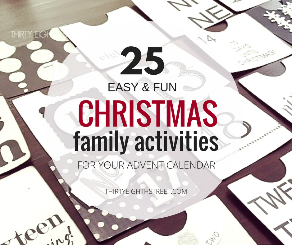 christmas family activities, christmas time family activity ideas, family activity ideas for christmas, christmas advent calendar with activities