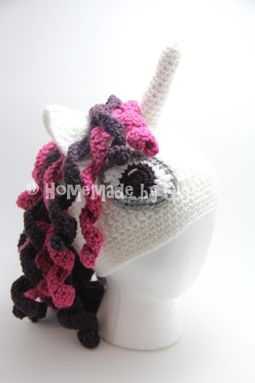 Homemade By Giggles Unicorn Hat Free Crochet Pattern
