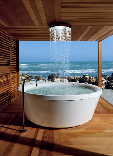 Seaside Overhead Shower Bath, Italy