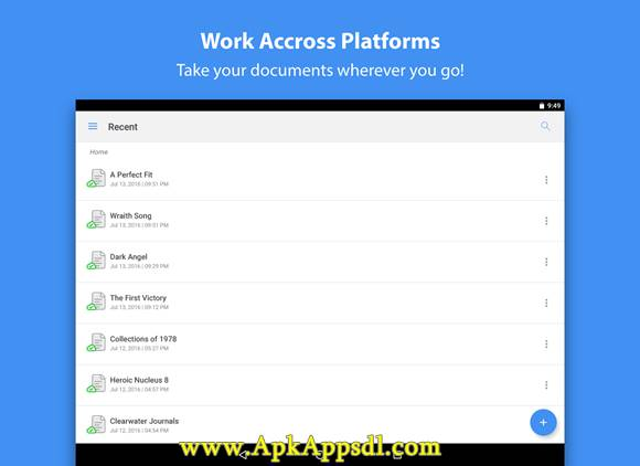 Zoho Writer Apk v2.0.5 Latest Version Gratis 2016 Free Download