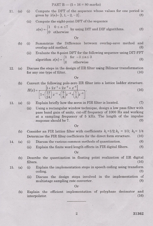 EC2302 Digital Signal Processing Nov Dec 2013 Past Exam