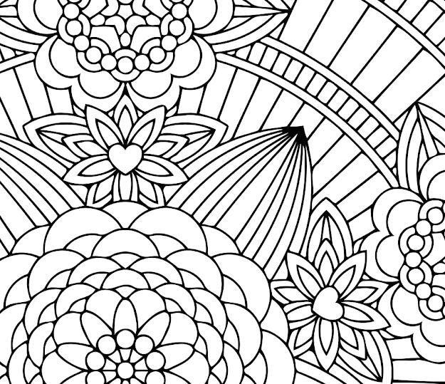 Hippie Mandala Coloring Pages With Flowermandalasthumb