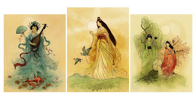 Random Colours: More Shinto goddesses